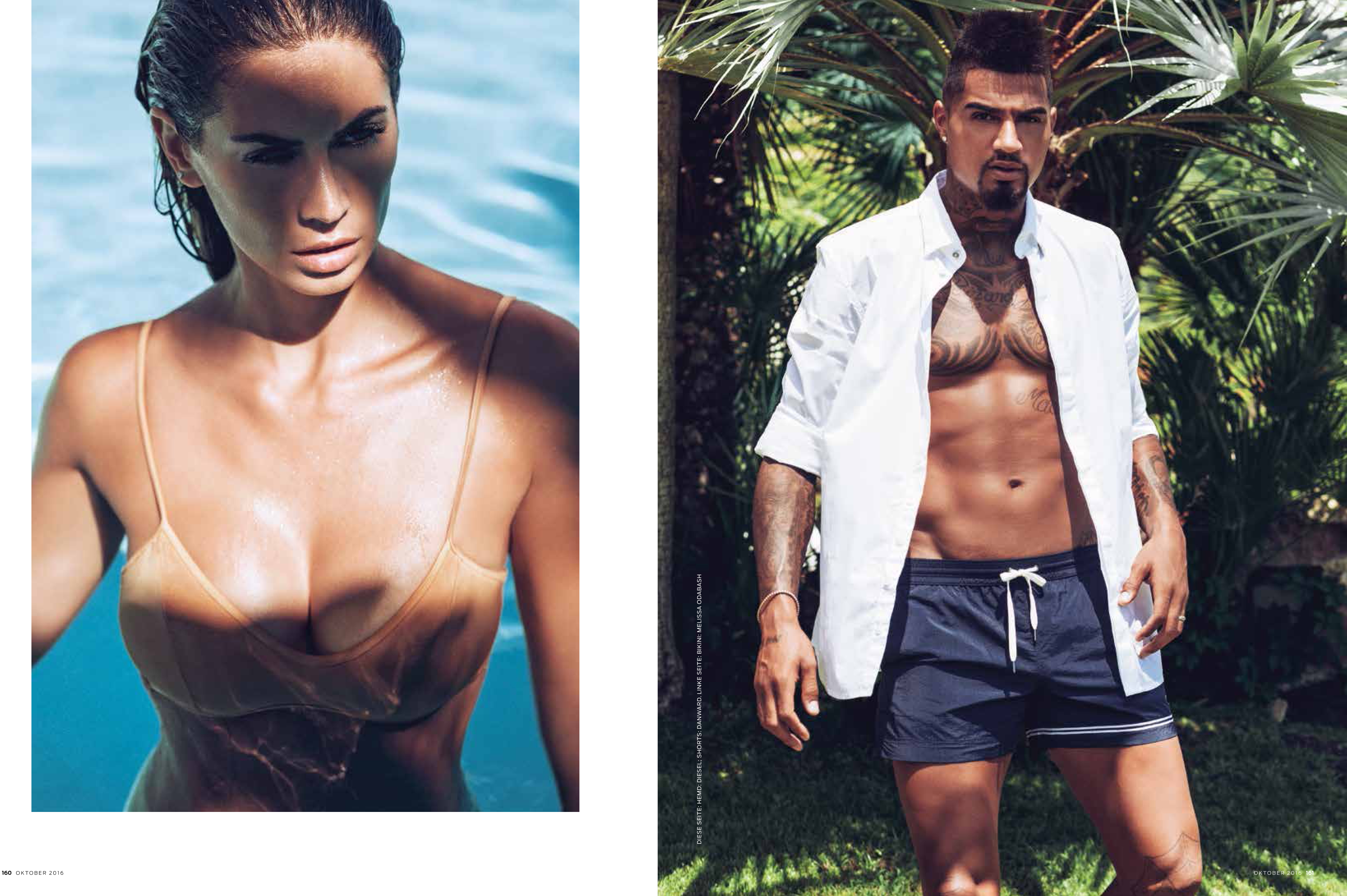 CHRISTIAN BORTH PHOTOGRAPHY GQ – KEVIN PRINCE BOATENG / MELISSA SATTA